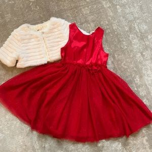 Girls Holiday dress with cropped cover top